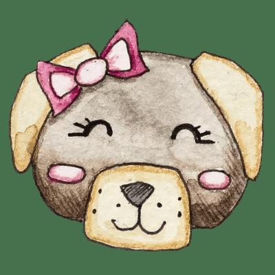 Hund_Schleifchen_transparenter Hintergrund_Aram und Abra
