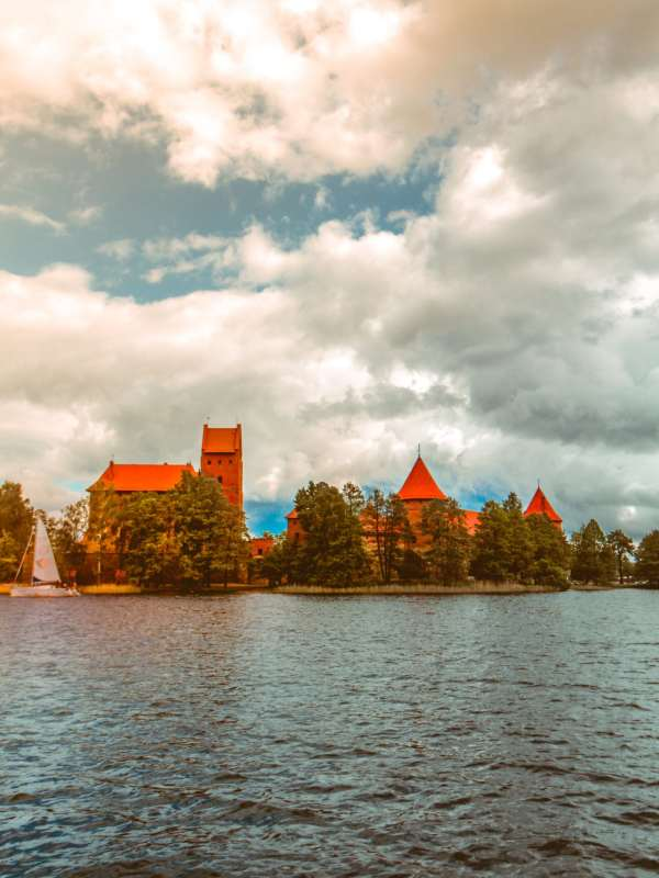 Castle on lake