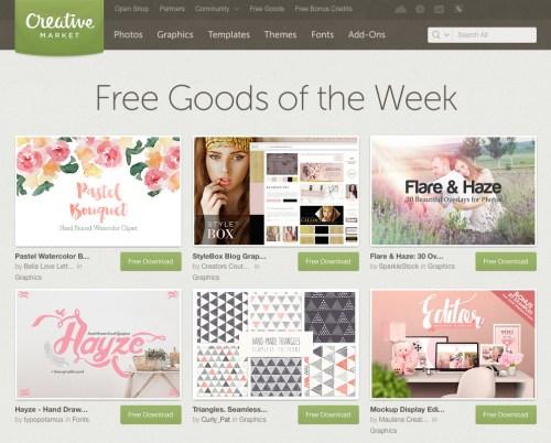Creative Market Free Goods
