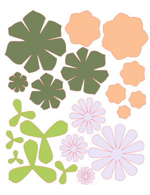 Paper Succulents Cut File Preview