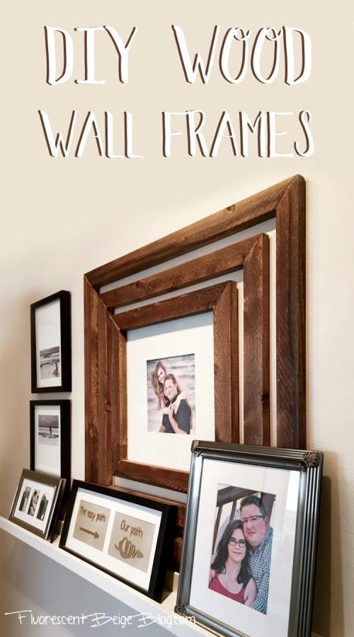 DIY Wood Wall Frames