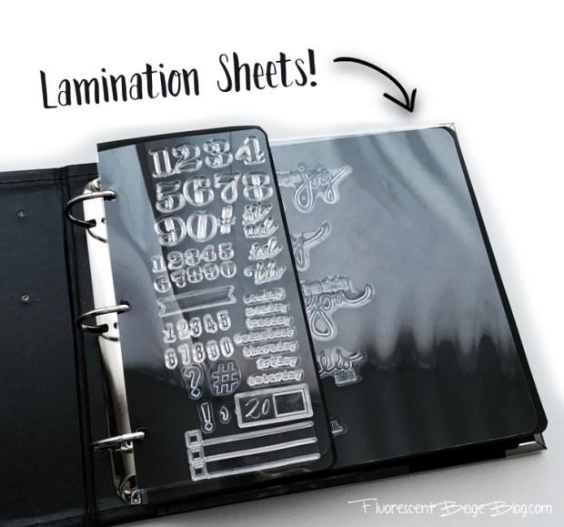 Stamp Binder Lamination Sheets