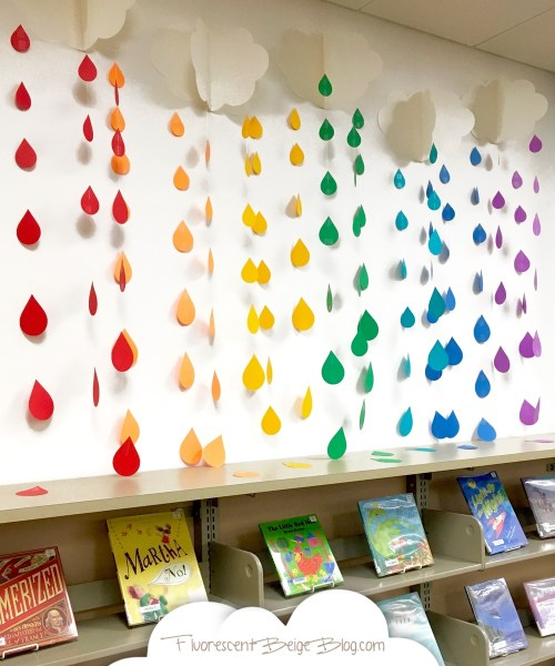 Colorful Clouds & Raindrops Book Display