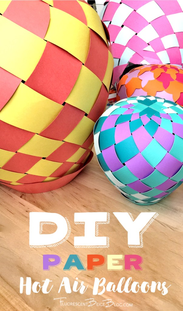 Diy Paper Hot Air Balloons Fluorescent Beige