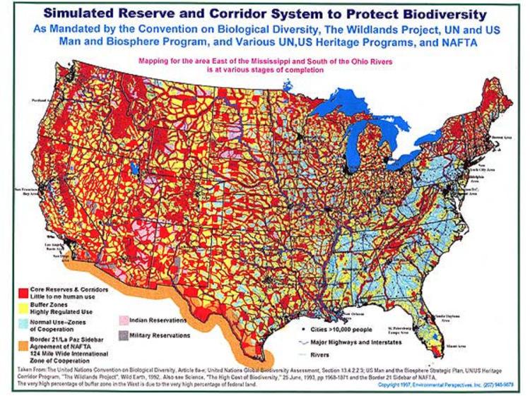 UN Agenda 21 Map fluoride free grand rapids