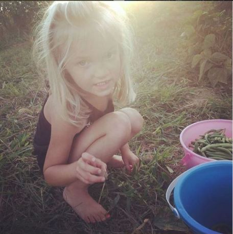 Country kid- gardening