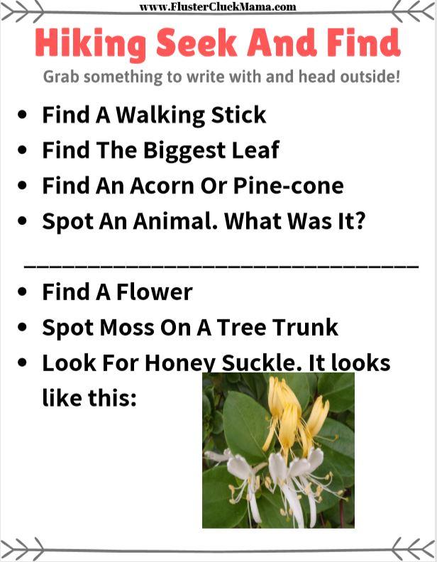 Hiking Seek And Find