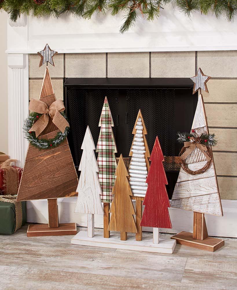 Vintage Wood Christmas Trees