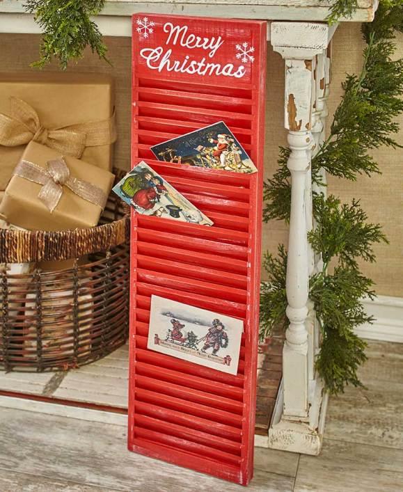 Shutter Christmas Card Holders
