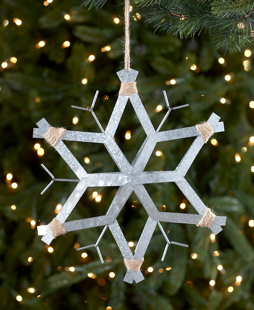 Oversized Galvanized Snowflake