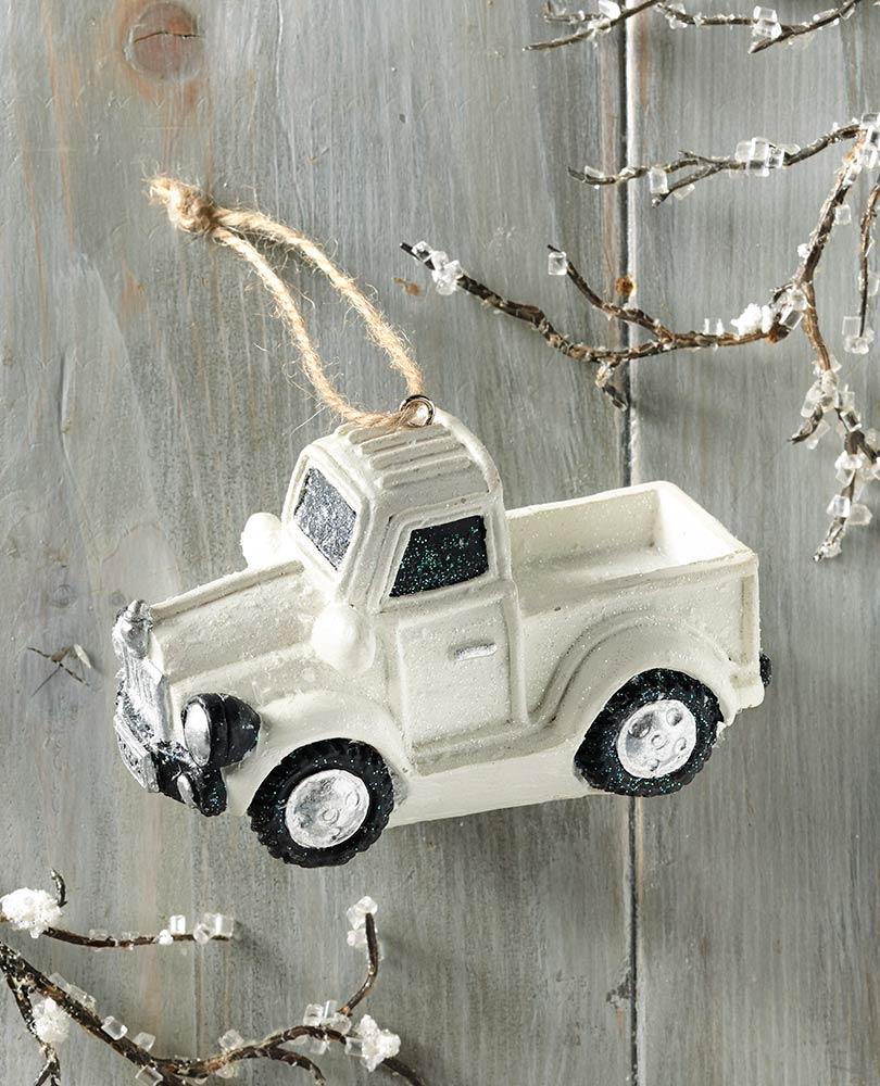 White Truck Ornament