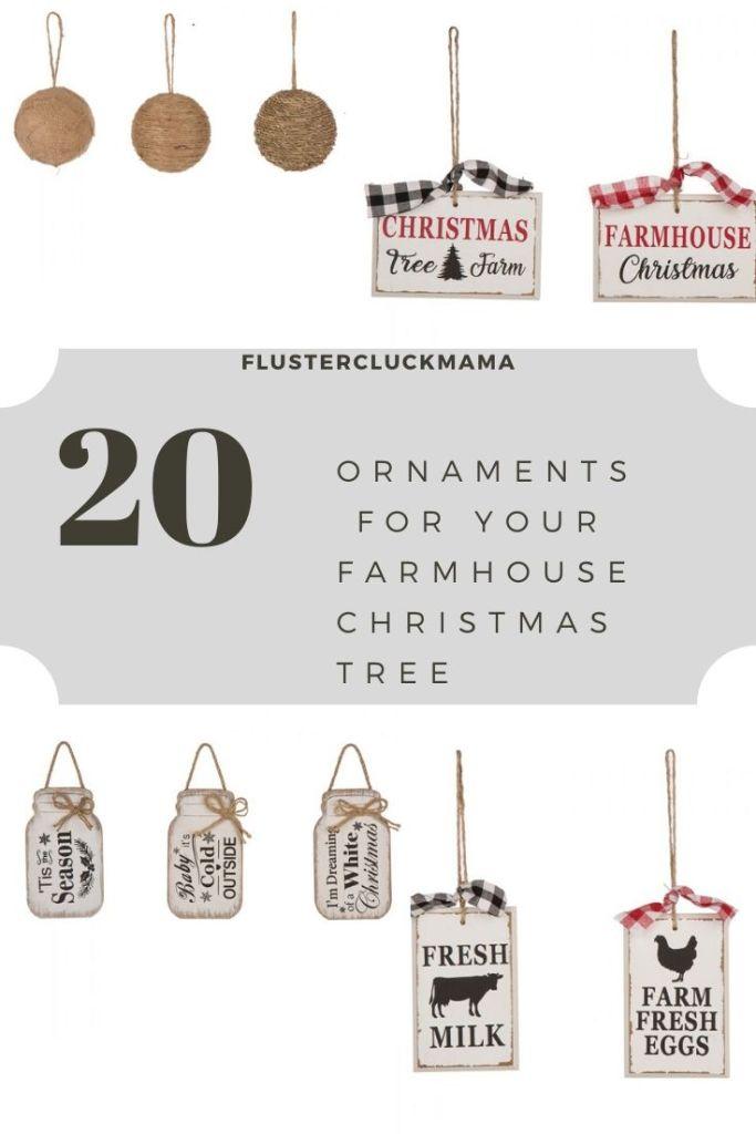 Farmhouse Christmas Tree Ornaments