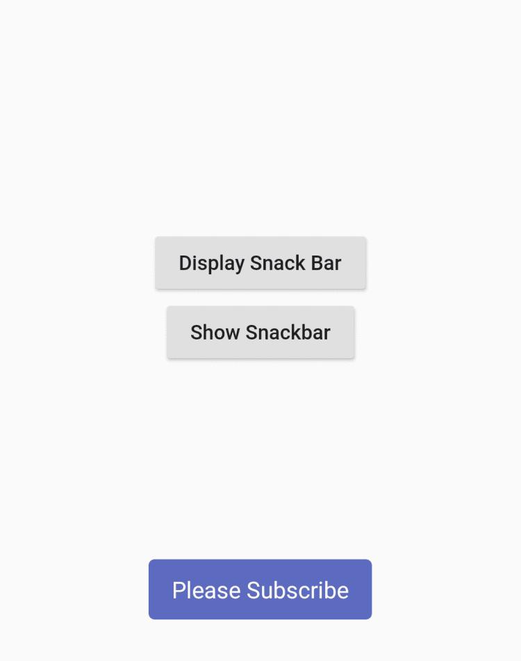 SnackBar-Toast