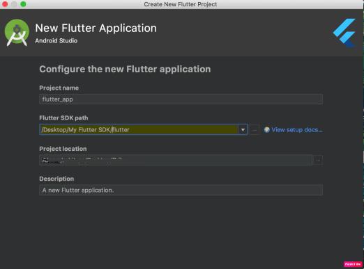 Flutter SDK Path