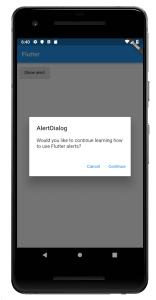 Two Button Alert Dialog