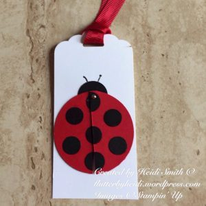 Ladybird tag tag it Tuesday stampin up uk closed