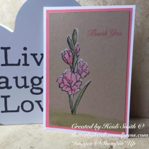 Hostess Stampin Up UK floral card gift of love