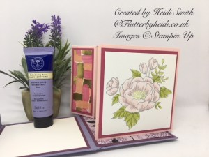 Rehydrating rose combined box and card by flutterbyheidi
