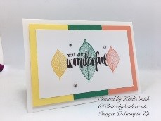 Rooted in nature colour block card by Flutterbyheidi