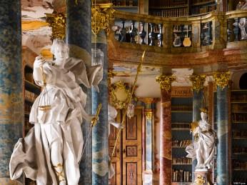 Wiblingen Abbey's library, Germany (Photo taken by Will Pryce)
