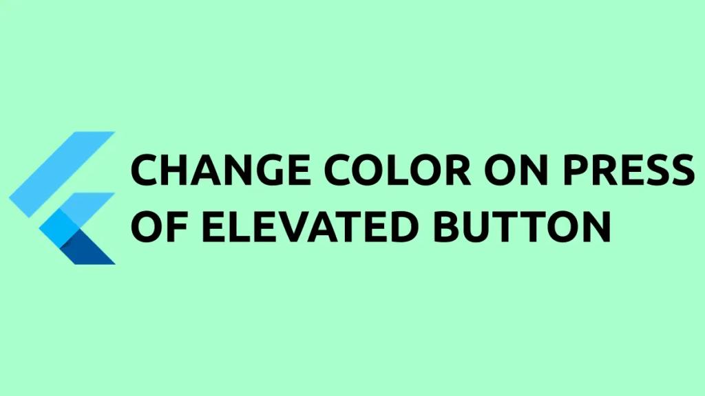 elevated button onpress color flutter