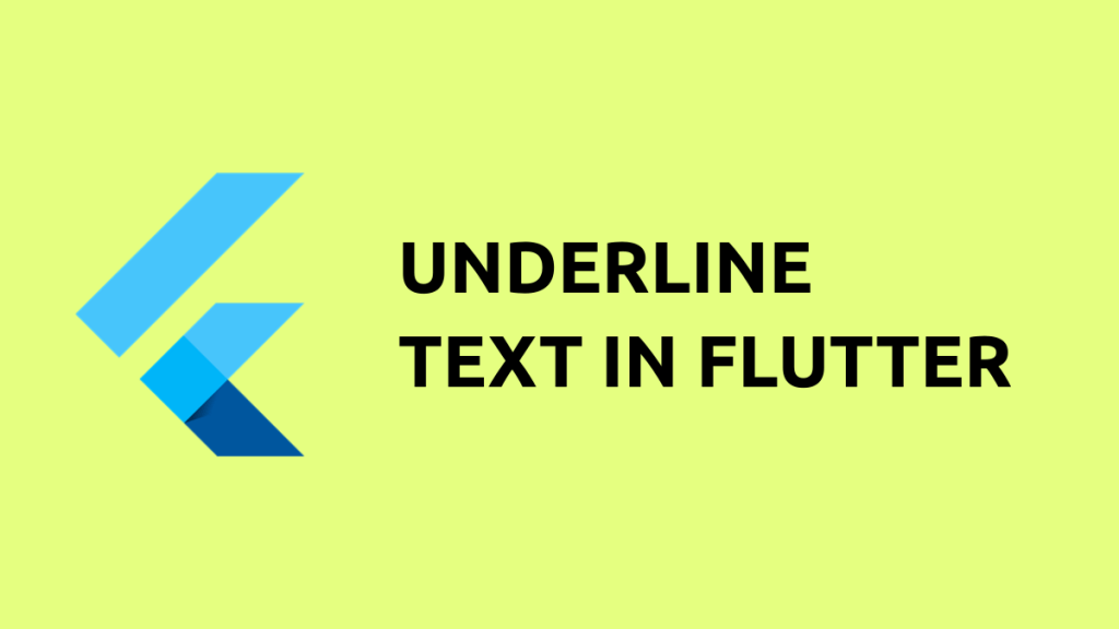 underline text flutter