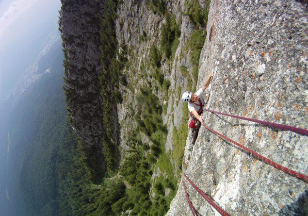 traseul innominata, alpinism muntii bucegi