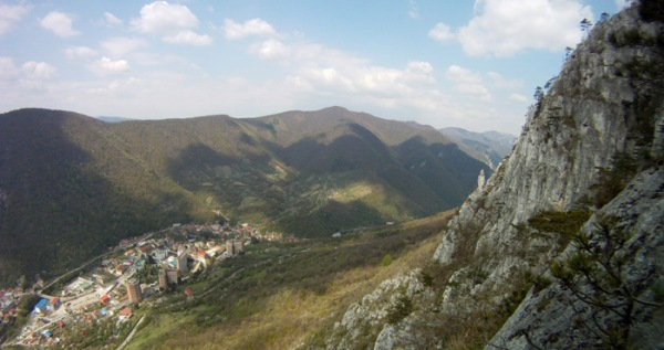 traseu Fisura Diavolului, panorama Herculane