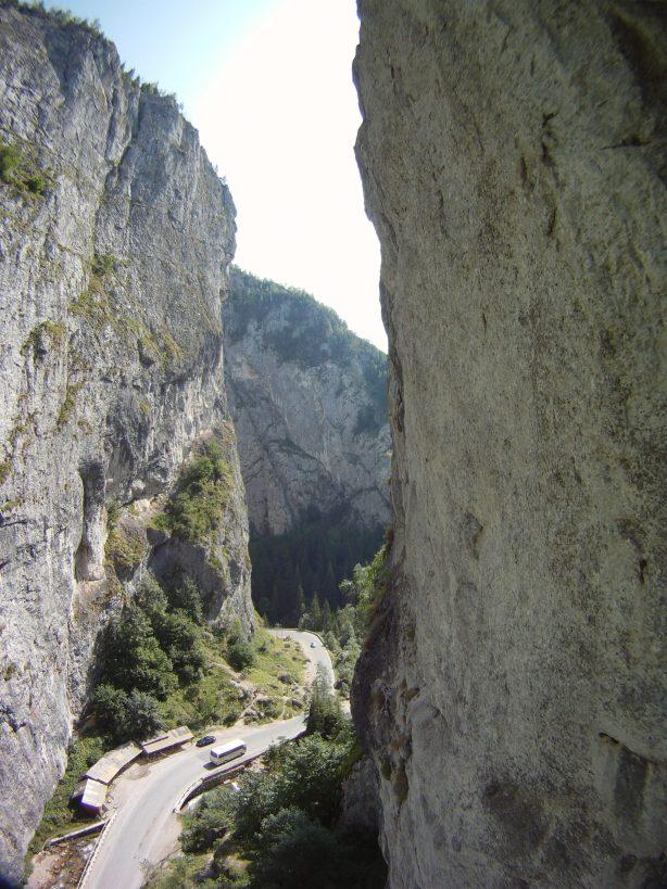 alpinism Cheile Bicazului vara