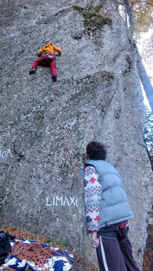 escalada faleza Piranha, Bucegi