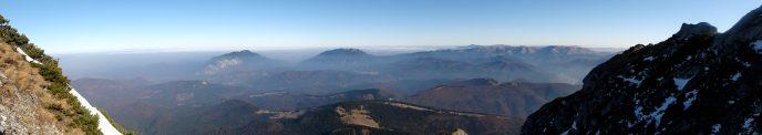 panorama Postavarul, din Muntii Bucegi