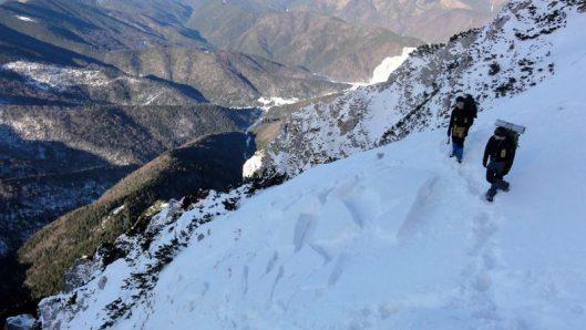 avalanşă Lanţuri Piatra Craiului iarna