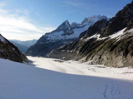 peisaj traseul grandes jorasses, alpi franta