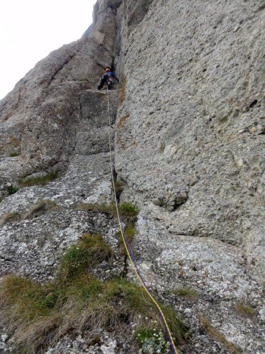 alpinism muntii bucegi, romania