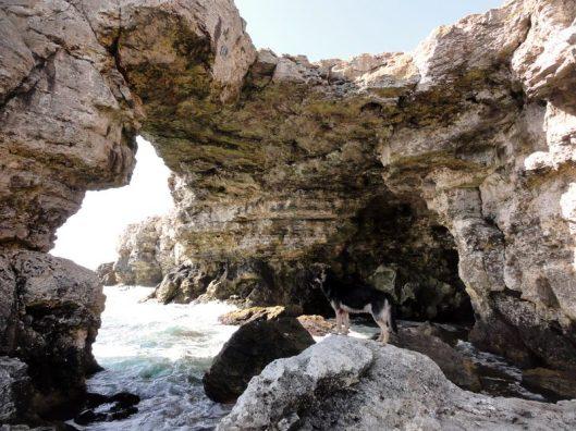 podul de piatră_cățărare la mare în Tyulenovo