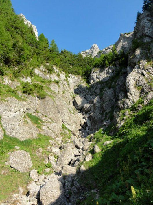 vale de abrupt Bucegi