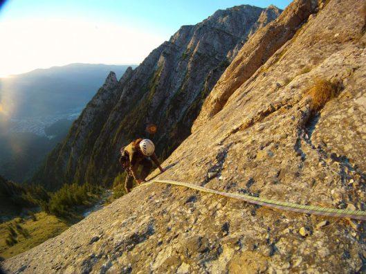 alpinism_multi-pitch climbing Romania