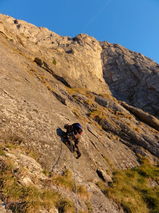 multi-pitch climbing Romania_alpinism valea alba