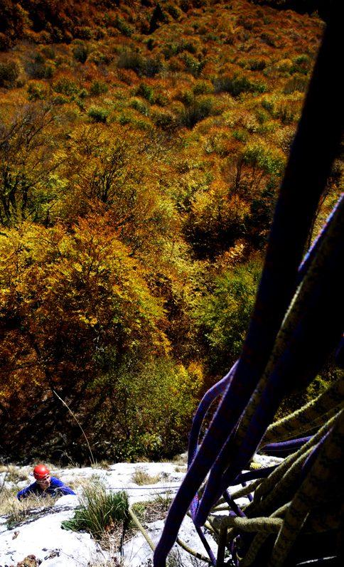 traseul pantera roz alpinism
