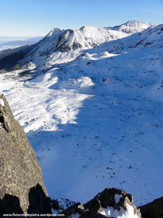 traseul creasta vulturilor, alpinism hibernal