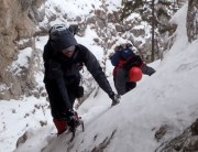 winter climbing piatra craiului romania