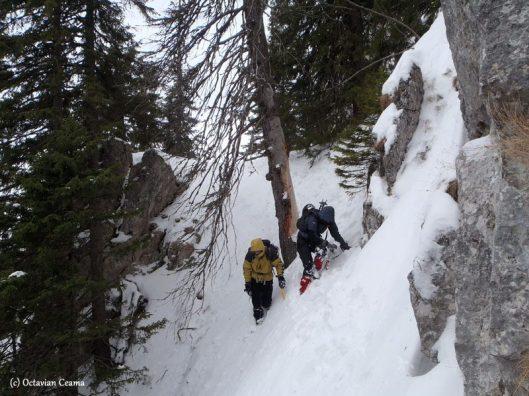 winter climbing piatra craiului