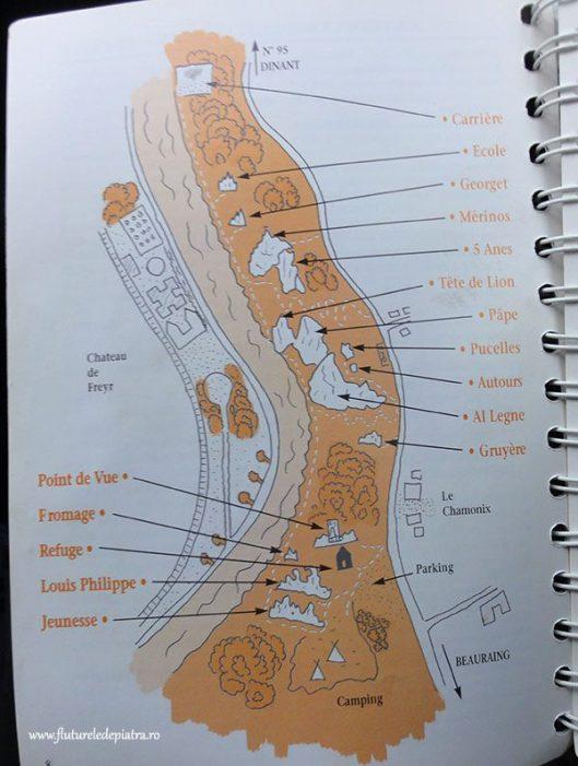 harta rochers de freyr, valea namurului, belgia