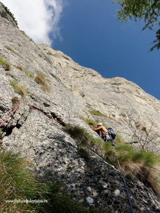 traseul eneida, alpinism peretele vulturilor