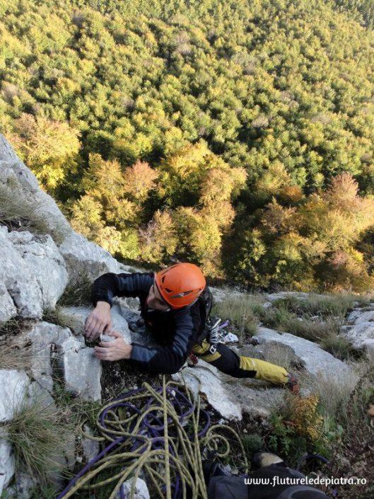 traseul cotofana, alpinism postavarul peretele animalelor