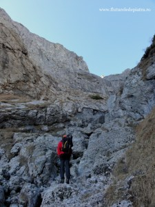 valea de abrupt Găblinele firul principal