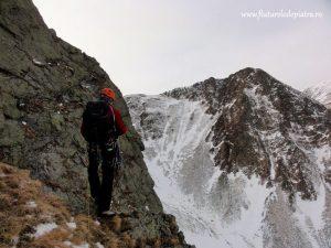 alpinism coltul balaceni iarna, muchia nord vest