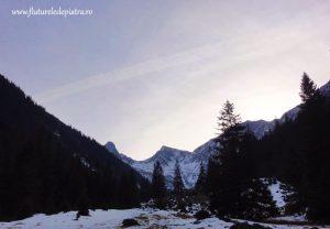 traseu valea sambetei iarna cabana sambata