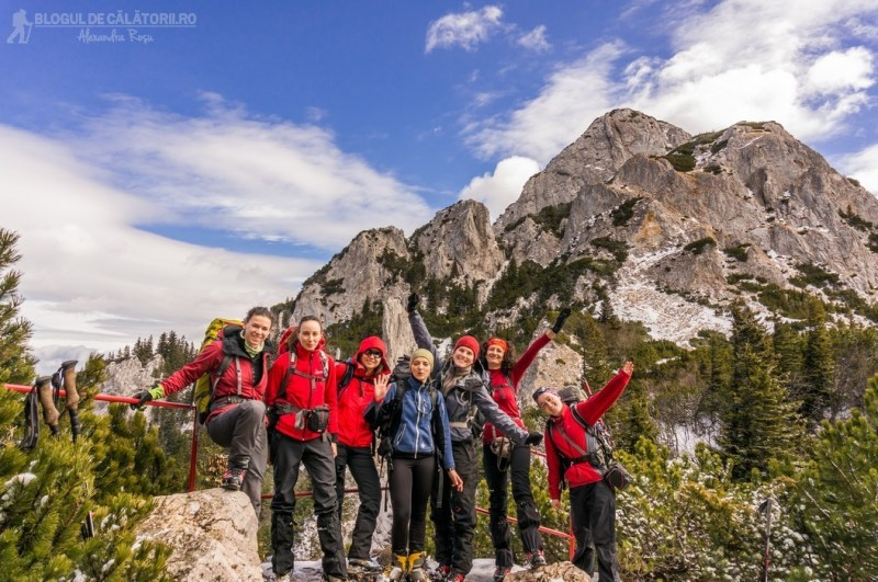 alpiniste romania in piatra craiului