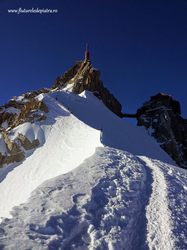 Aiguille du Midi and vallee blanche